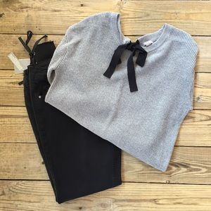 Sweaters - 1 LEFT! Back Bow Knit Sweater